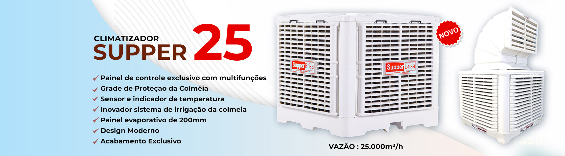 climatizador industrial evaporativo Supper Brisa Climatizadores Climatizacao banner agenciatem goiania